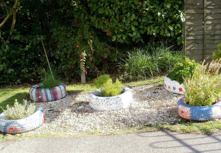 Sensory garden area
