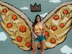La pizza de Chicago me da alas!