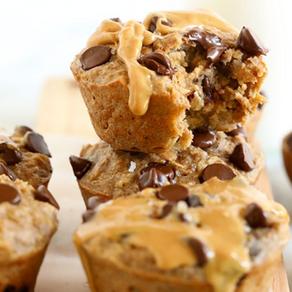 Healthy-Muffins de avena con mantequilla de maní y banana