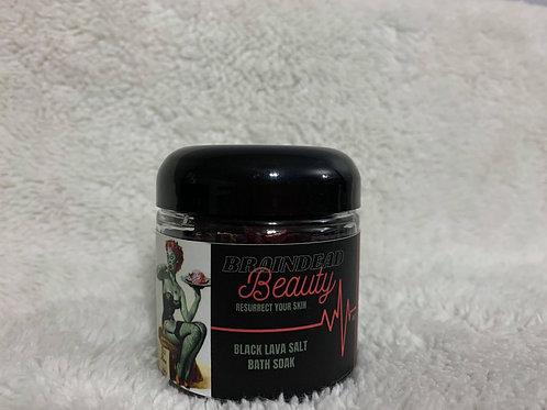 Black lava salt and hibiscus bath soak