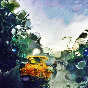 Yellow taxi in the Monsoon