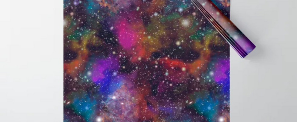 Rainbow Galaxy Wrapping Paper