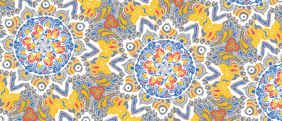 Sunburst Repeat Pattern