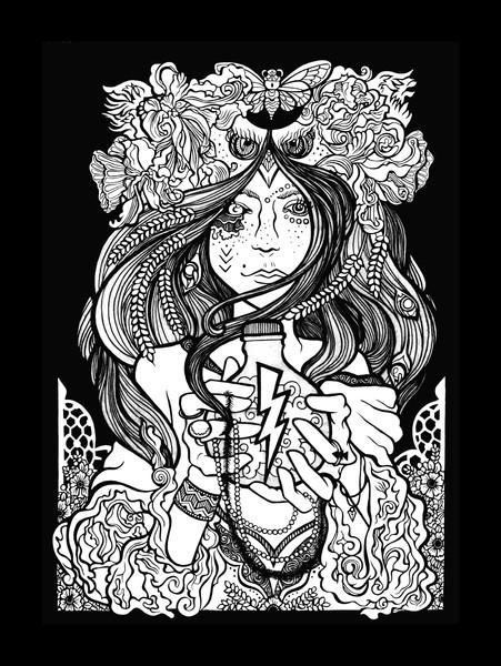 LIB goddess linework