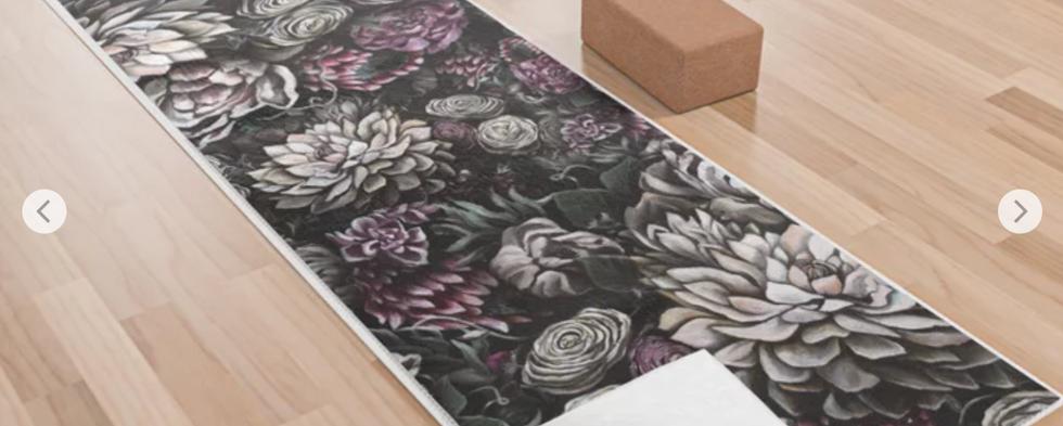 Florals Galore Yoga Towel