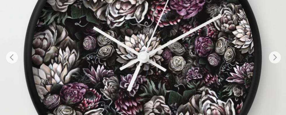 Florals Galore Clock