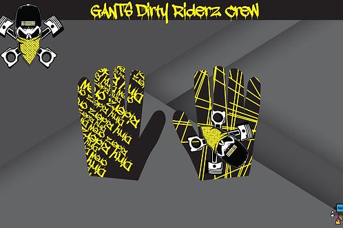 Dirty Riderz Gloves (Jaune/noir/Suzuki)