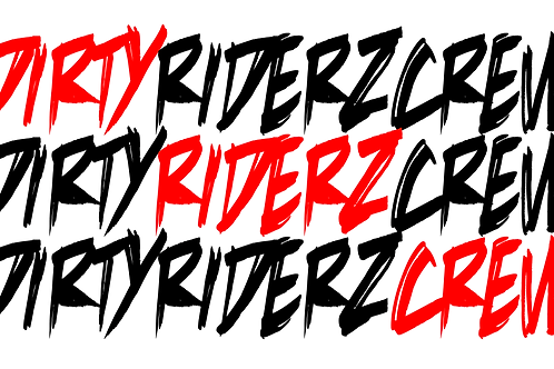 3 Stickerz #DIRTYRIDERZCREW (rouge)
