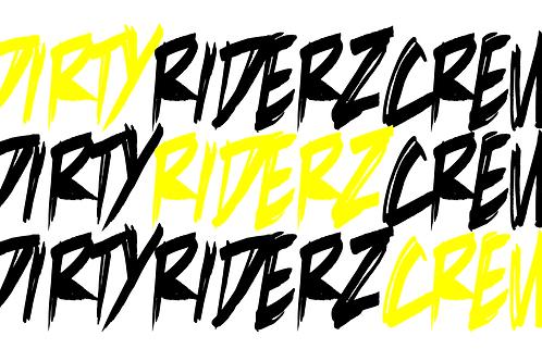 3 Stickerz #DIRTYRIDERZCREW (jaune)