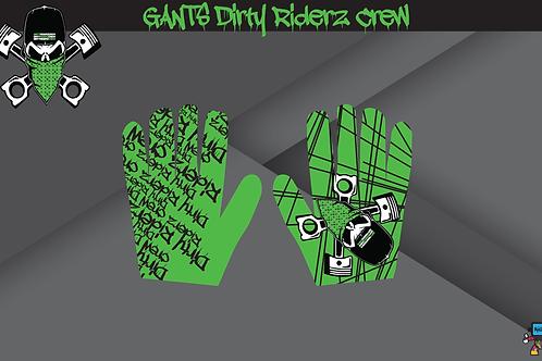 Dirty Riderz Gloves (Vert/Kawasaki)
