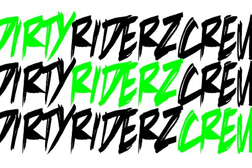 3 Stickerz #DIRTYRIDERZCREW (vert)