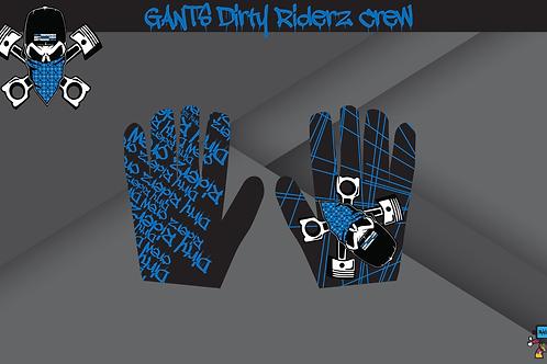 Dirty Riderz Gloves (Bleu/Noir/Yamaha)