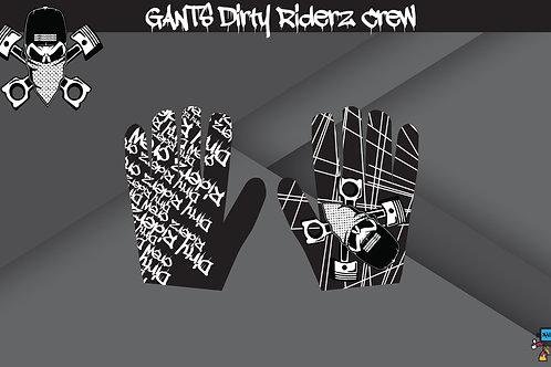 Dirty Riderz Gloves (Noir/Blanc)