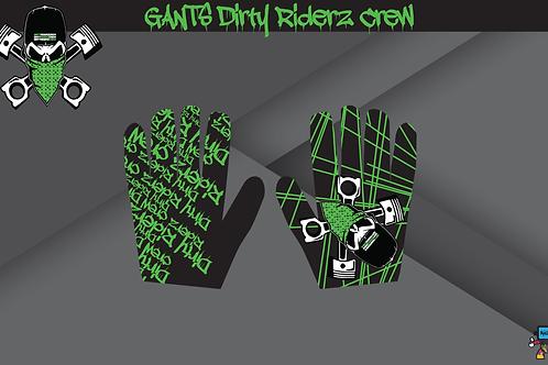 Dirty gloves (Vert/Noir/Kawasaki)