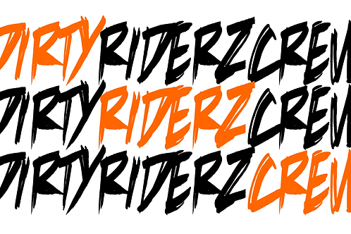 3 Stickerz #DIRTYRIDERZCREW (orange)