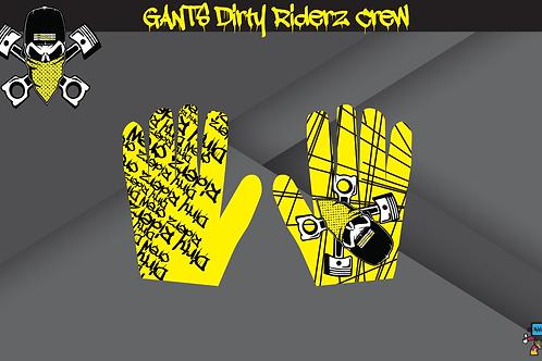 Dirty Riderz Gloves (Jaune/Suzuki)