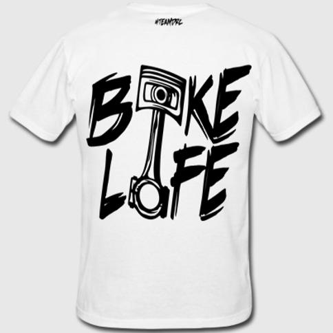 Tee Shirt #BIKELIFE (Blanc et Noir)