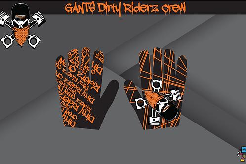 Dirty Riderz Gloves (Orange/Noir/KTM)