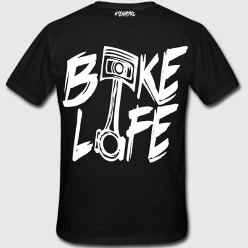 Tee Shirt #BIKELIFE (Noir et Blanc)