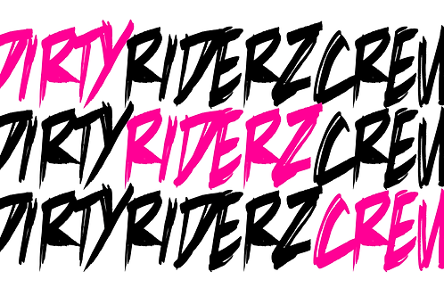 3 Stickerz #DIRTYRIDERZCREW (rose)