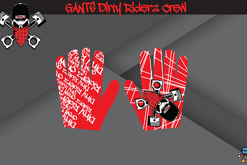 Dirty Riderz Gloves (Rouge/Honda)