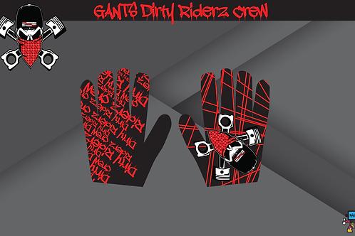 Dirty Riderz Gloves (Rouge/Noir/Honda)