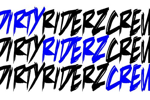 3 Stickerz #DIRTYRIDERZCREW (bleu)