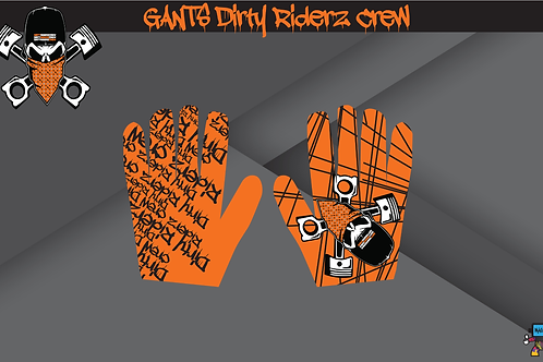 Dirty Riderz Gloves (Orange/KTM)