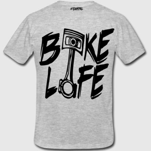 Tee Shirt #BIKELIFE (Gris et Noir)