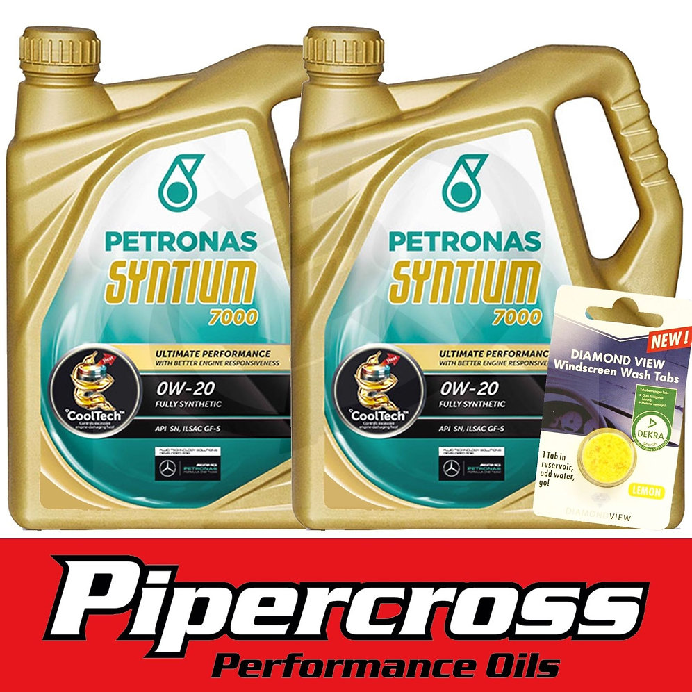 Car Engine Oil Petronas Syntium 7000 0W20 10 Litres + FREE 5L SCREEN WASH  TAB | NZ Engines