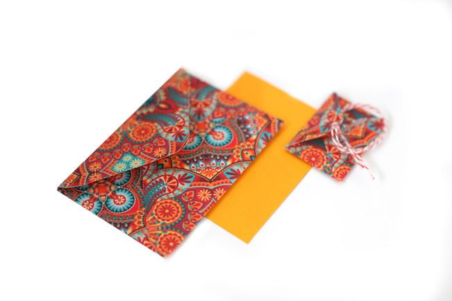 Amo Papel | envelope de tecido