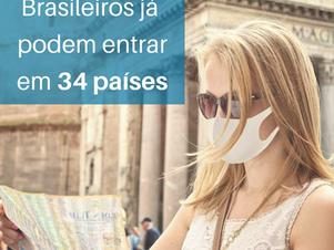 Já sobe para 34 a lista de países que autorizam a entrada de brasileiros