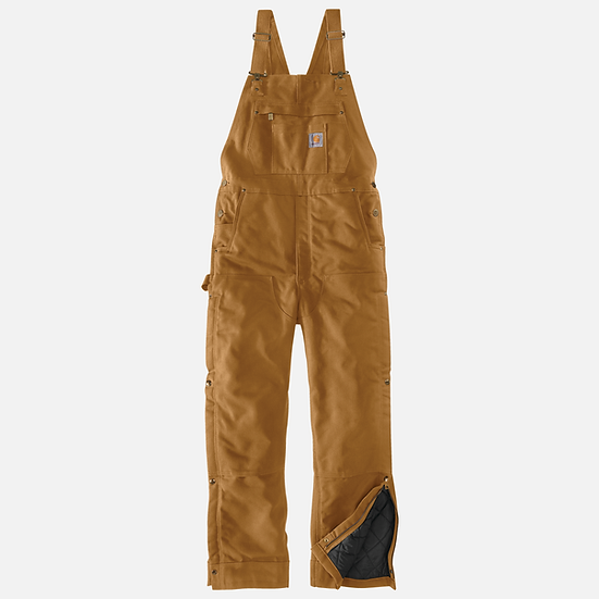 Loose Fit Firm Duck Insulated Bib Overall