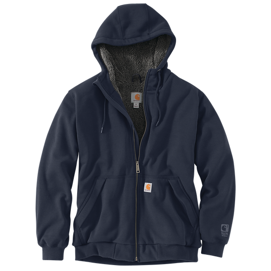 Rain Defender Relaxed Fit Midweight Sherpa-Lined Full-Zip Sweatshirt
