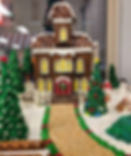 Classic Christmas Gingerbread House and scene.