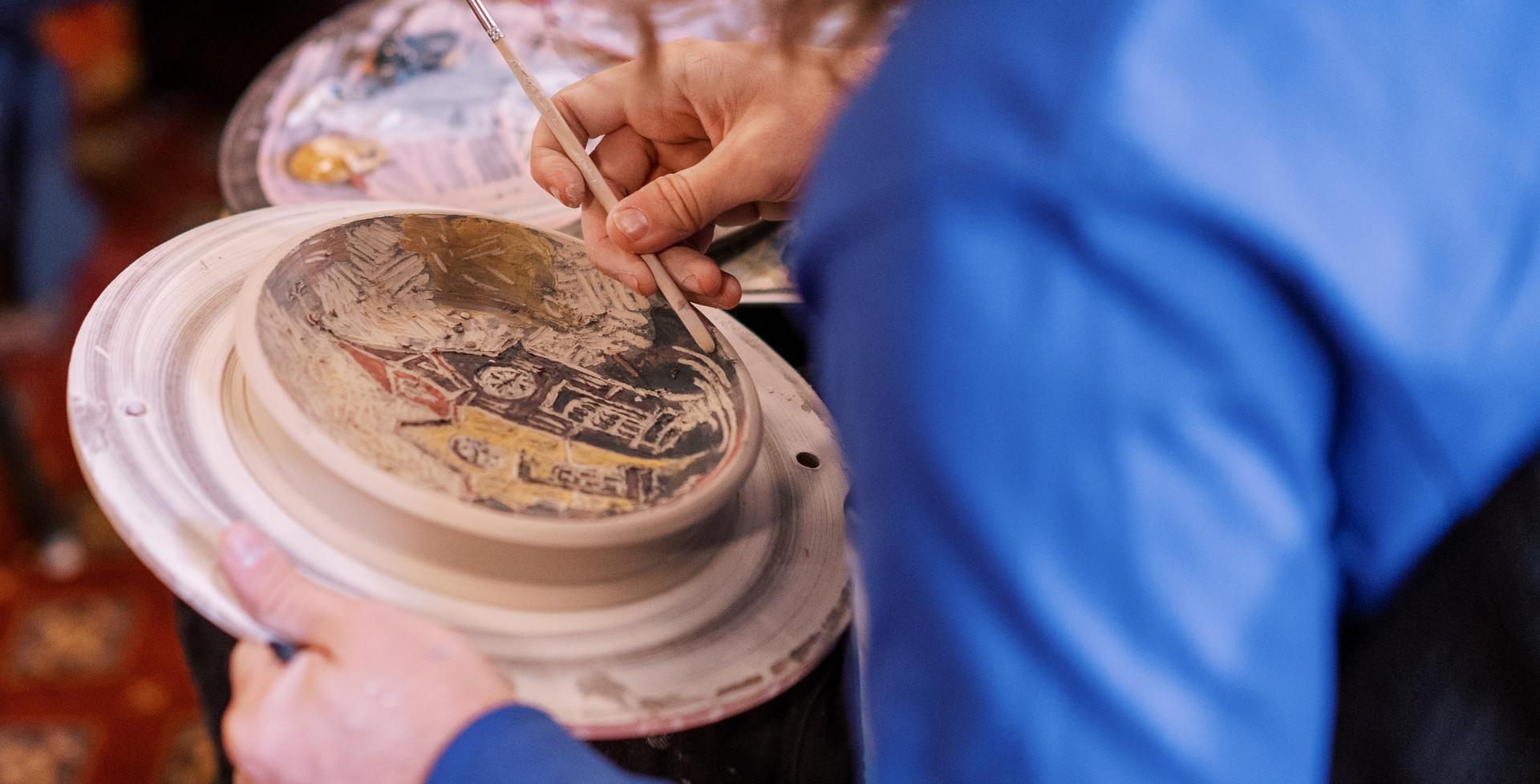 Decorating Clay Piece
