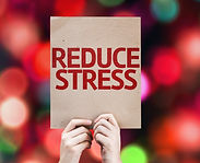 Reduce Stress card with colorful backgro
