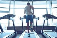 Jogging his way to good health. Full-len