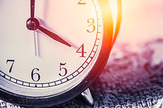 closeup vintage clock selective focus at