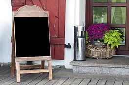 Empty menu blackboard to ad text standin