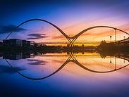 Infinity Bridge at sunset In Stockton-on