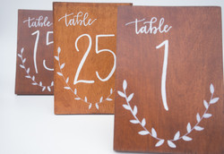 table numbers 25