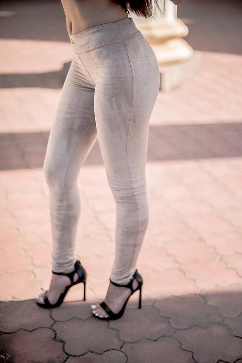 Лосины бежевые, лосины светлые, брюки в обтяжку