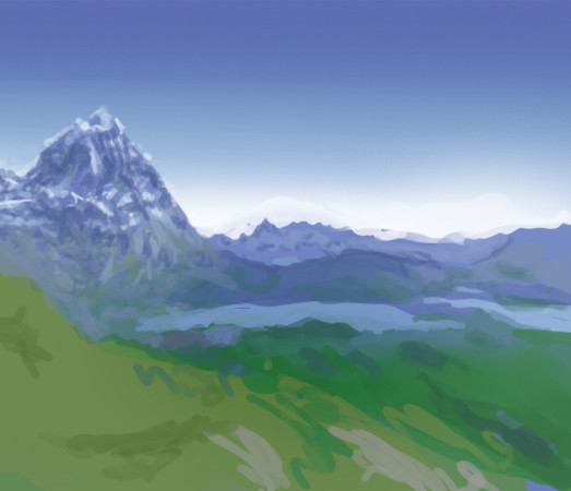 Mountains Matte painting