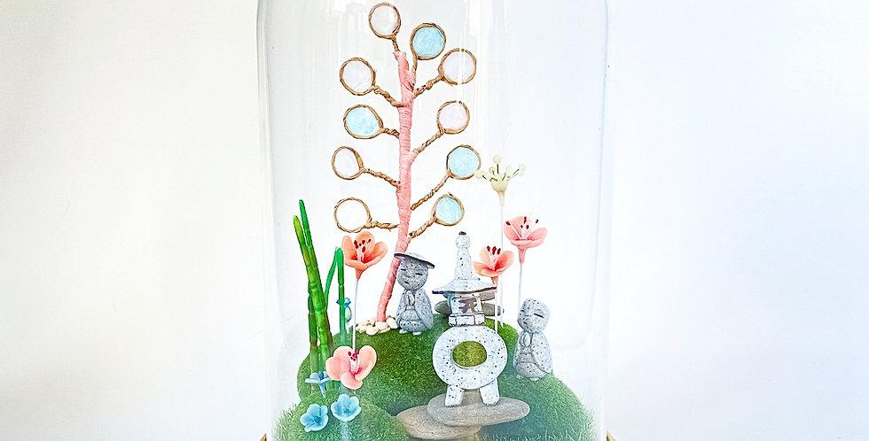 Cloche de verre Temple Jizôs