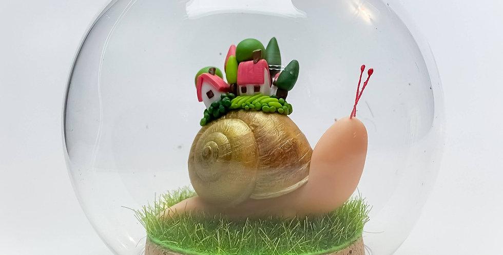 Boule de rêve village escargot