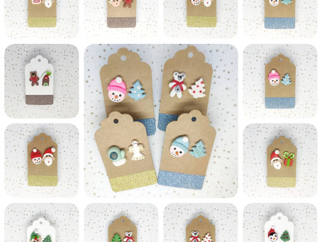 C'est cadeau ! Promo de Noël 💝 sur les boucles de Noël et quelques articles .🌲🌲🌲🌲🌲🌲☃️🌲🌲🎅