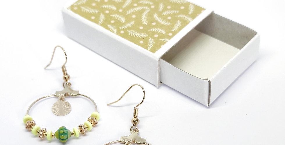 Boucles d'oreilles perles heishi- ref3