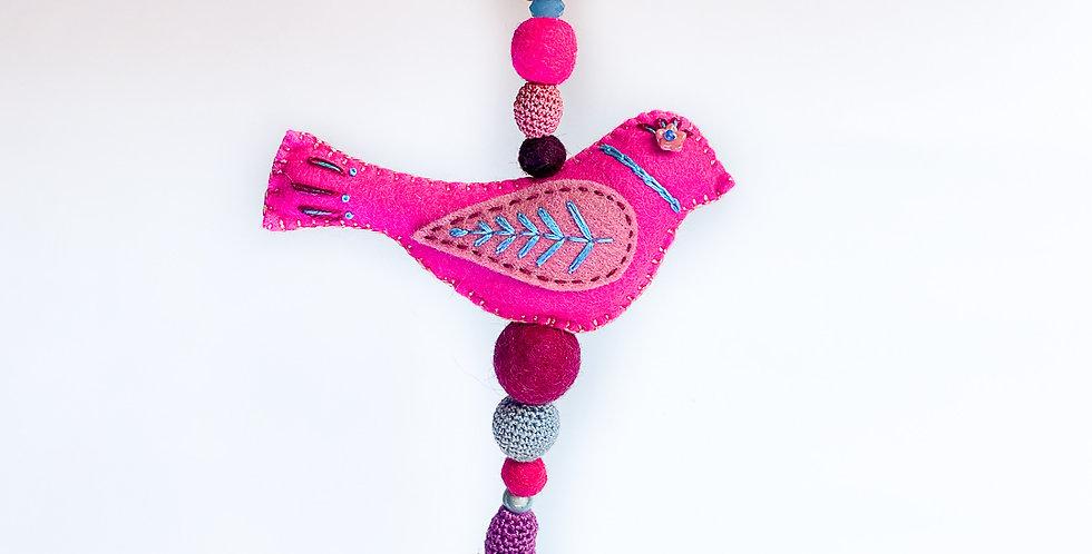 Suspension oiseau en feutrine- ref2