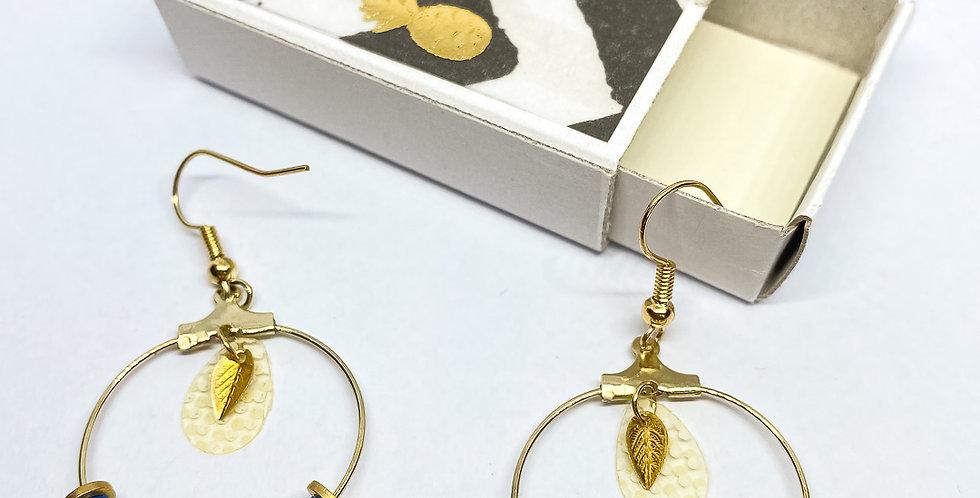 Boucles d'oreilles perles heishi- ref2